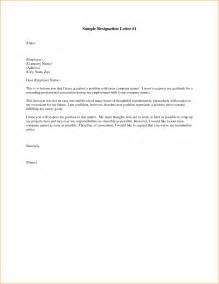 Free Resignation Letter by 11 Resignation Letter Free Sle Basic
