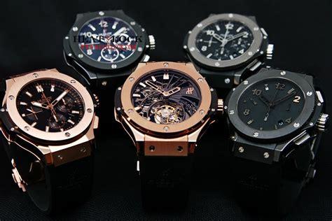Jam Tangan Cowok Pria Hublot Classic Funtion Torbillon Hitam luxury swiss hublot replica watches collections sale