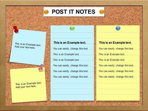 post it template post it note charts powerpoint template charts post it
