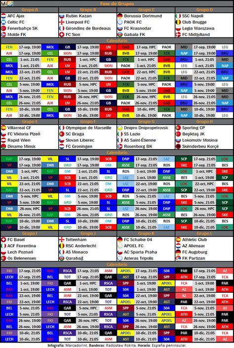 Calendar J League Calendario De La Fase De Grupos De La Uefa Europa League