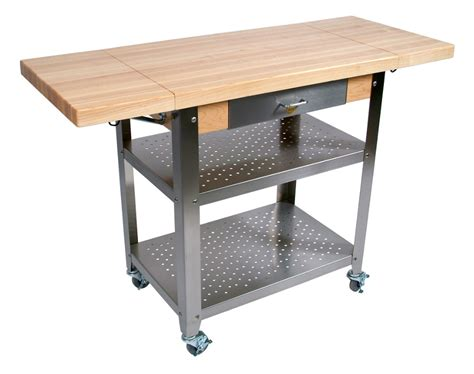 Catskill Craftsmen Kitchen Island by John Boos Cucina Elegante Wood Steel Kitchen Cart
