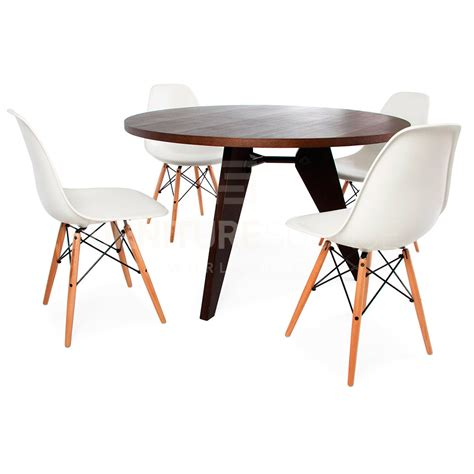 Mid Century Style Dining Table Jean Prouve Style Mid Century Modern Gueridon Wood Dining Table Ebay