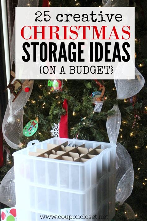 christmas storage ideas organizing christmas decorations