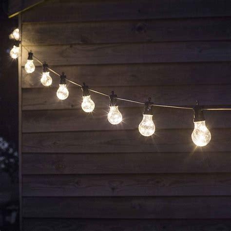 light bulb string lights uk buy garden trading festoon string lights amara