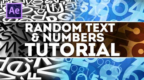 youtube tutorial numbers random text numbers after effect tutorial youtube