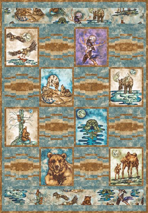 Wildlife Quilt Patterns Free by Wildlife Preserve Free Pattern Robert Kaufman Fabric Company