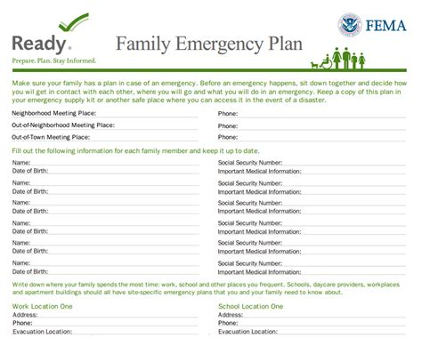 family emergency communications plan template motorcycle