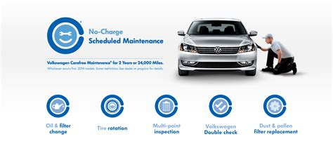 Volkswagen Free Maintenance by Volkswagen Carefree Maintenance Enjoy No Charge Scheduled
