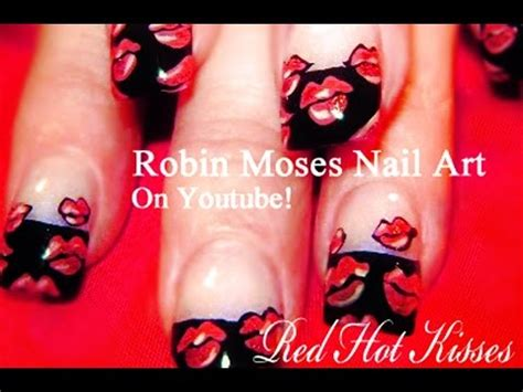 french kiss tutorial youtube nail art tutorial red hot lips nail art design idea