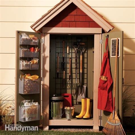 garden closet storage project  family handyman
