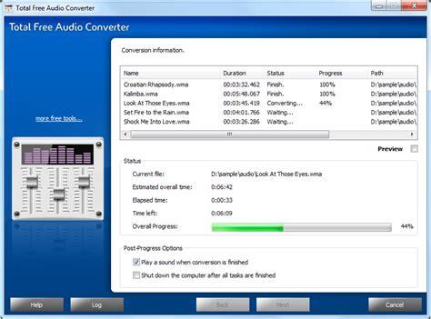 best free audio converter total free audio converter free sound converter software