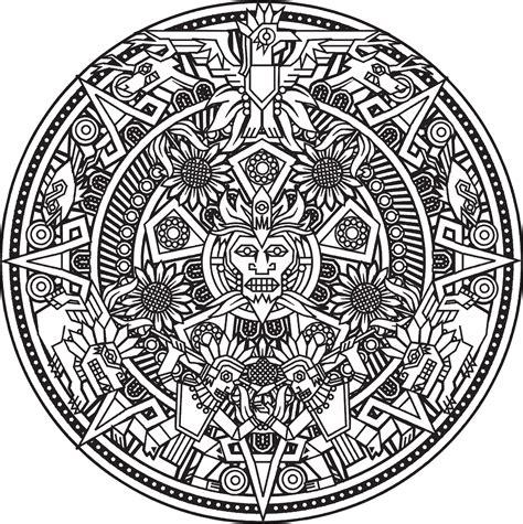 Calendario Solar Azteca Calendario Solar Azteca Que Se Convierte En Un Lindo