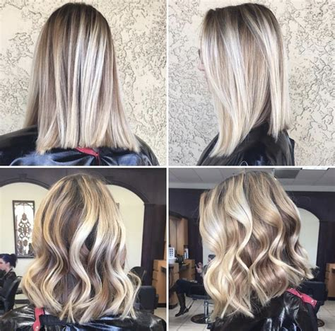 midlength blonde reverse ombre 42 best hair cuts medium to short bob messy bangs
