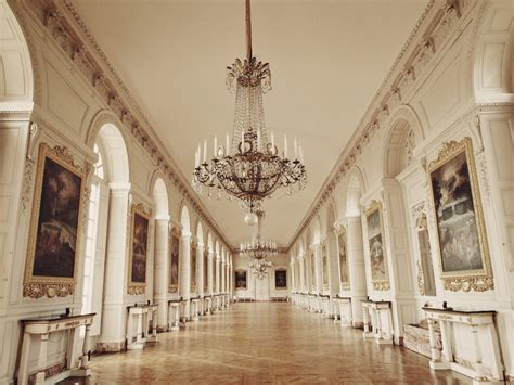 Rococo Crystal Chandelier Great Hall Of Grand Trianon Chateau Versailles Paris