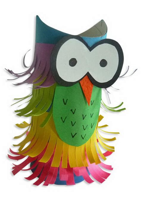 Paper Craft Owl - 60 animal themed toilet paper roll crafts hative