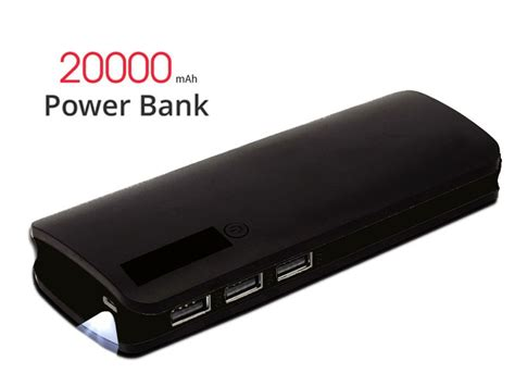 Power Bank Unique 30000mah 20000mah power bank with 3 usb ports led torch price in