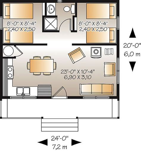 lovely house plans with garage under 6 small house plans the great escape heated area 480 sf 24 x 20 i would