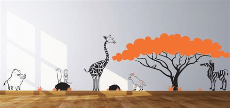 safari themed wall decals nursery decals animals