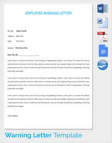 Employee Warning Template by Sle Warning Letter 15 Free Documents In Pdf Word