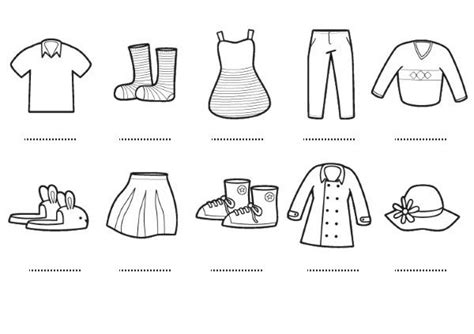imagenes para colorear ropa prendas dibujos para colorear e imprimir