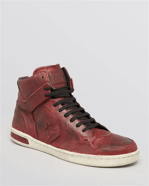 best sneakers lyst converse jv weapon leather high top sneakers in