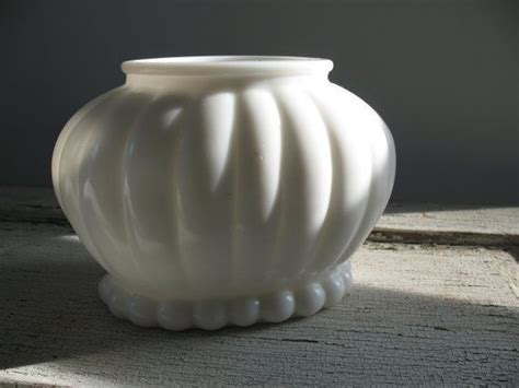 milk glass bathroom accessories vintage milk glass planter ribbed oval mid century retro