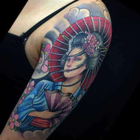 geisha tattoo designs for men 70 colorful japanese geisha tattoos meanings and