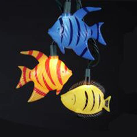 Whimsical Tropical Fish Electric String Lights Under The Fish String Lights