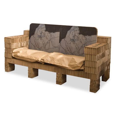 divano di cartone divano in cartone riga design