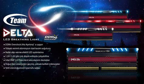 Team Delta Ddr4 8gb 4gb X 2 Pc3000 Biru team delta 8gb 2x4gb ddr4 2400mhz ram tm4del240042rd fiyatı