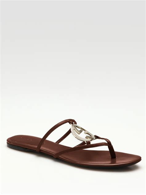 gucci sandals gucci flat sandals in pink lyst
