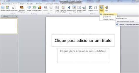 colocar imagenes seguidas html como colocar v 237 deos do youtube no powerpoint dos offices