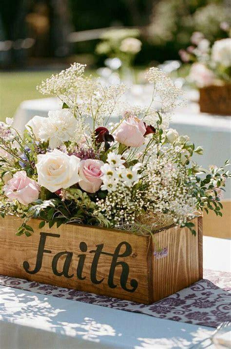 Faith Planter Box Floral Centerpiece Centro De Mesa Boxes Centerpieces