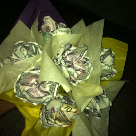 Origami Flowers Made From Money - bouquet of roses made out of money my own creations