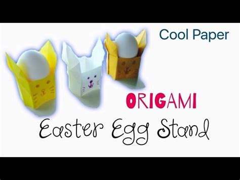 3d origami egg stand tutorial origami easter rabbit egg stand tutorial diy paper cool