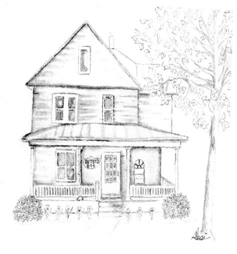 drawing of house image gallery old house drawing home