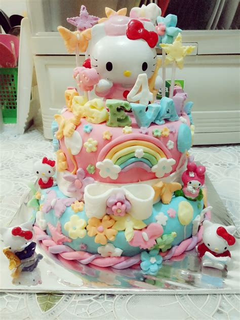 Kue Tart Karakter Hello Kity sagitarius cake shop kue ulang tahun hello 2 tingkat