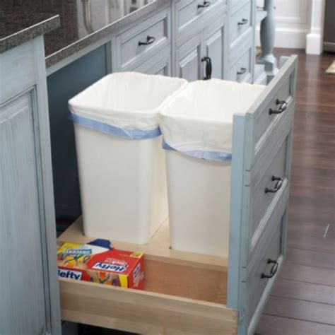 Built In Trash Cans For The Kitchen by Built In Trash Kitchen Remodel