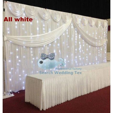 Wedding Backdrop Led by White Wedding Backdrop Curtain With Led Lights Stage