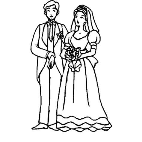disegni sui fiori disegno di sposi con bouquet da colorare per bambini