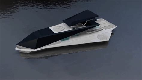 Yacht Origami - the yacht has origami design