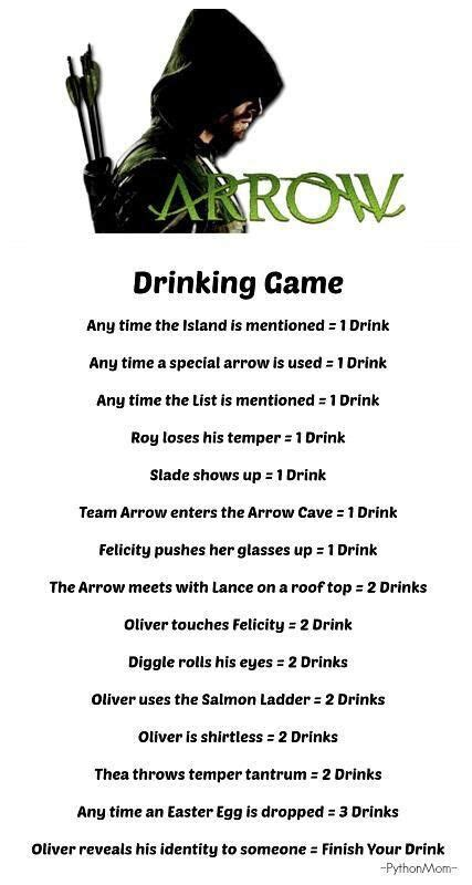 Drinking Game Memes - drinking game stephen amell green arrow pinterest