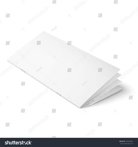 Multi Page Booklet Template empty multipage brochure template on stock vector