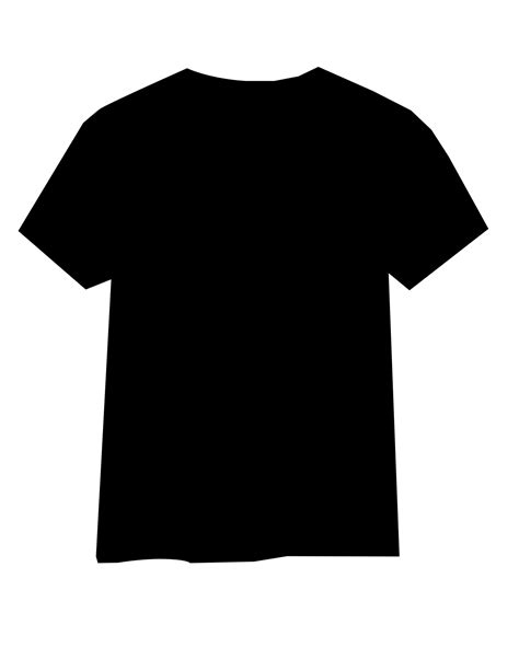 black t shirt template front clipart best
