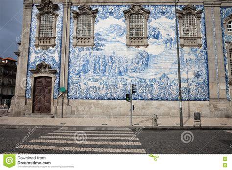 azulejo tiles porto azulejo tiles on carmo church wall in porto stock image