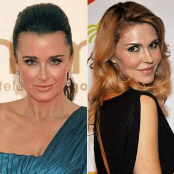 what is the issue between kim and kyle richards brandi glanville says kyle richards only cares about fame