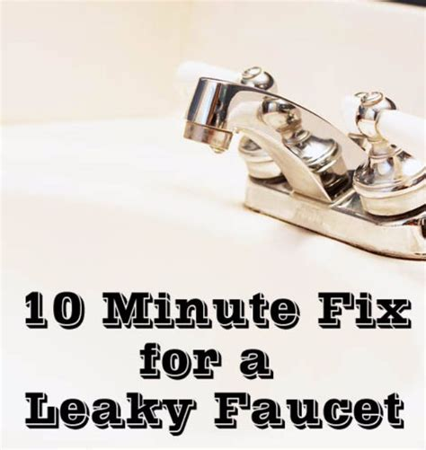 fixing a leaky tap the easy way ifixit 37 easy home repair hacks to try today diy joy