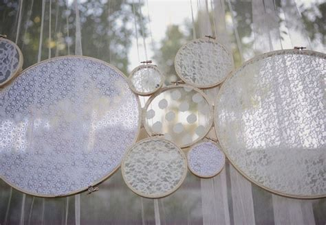 Modern Vintage Wedding Decor Lace Backdrop   OneWed.com