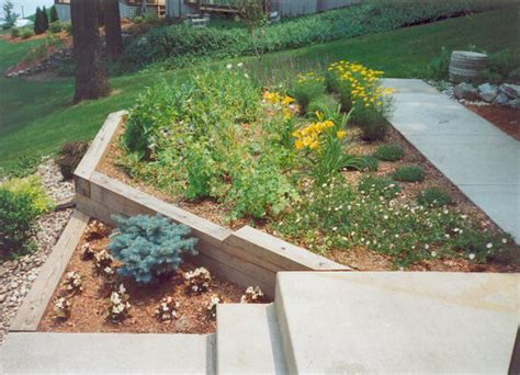 How To Install Landscape Timbers Pin Timber Landscape Steps Kamistad Pictures