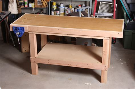 woodworking shop benches a basic woodworking bench that s quick to make